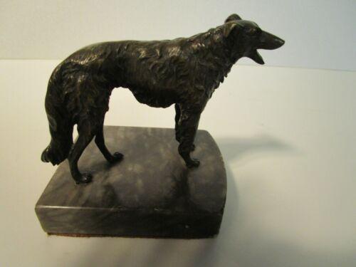 Art Deco Bronze BORZOI Dog