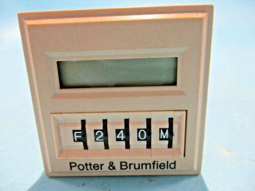 NEW POTTER BRUMFIELD CNT-35-96 COUNTER/TIMER DELAY RELAY 0.1SEC-9990 HOURS