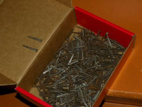 "4# Vintage 1 1/2"" Square Cut Nails Flat Head - New Old Stock Nails"