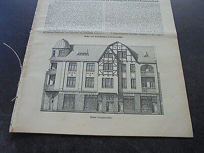 1913 Baugewerkszeitung 40  / Skalmierschütz Nowe Skalmierzyce