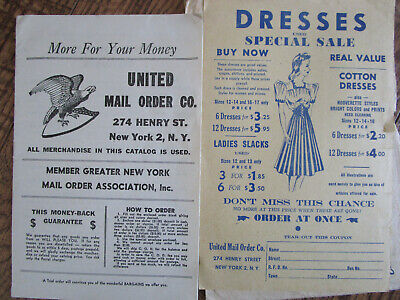 Vtg WWII 1940's United Mail Order Catalog / New York / Apparel for Family w/Enve (Catalogues For Clothes)