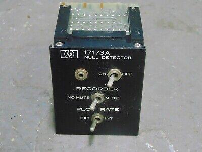 Hp Hewlett Packard 17173a Null Detector