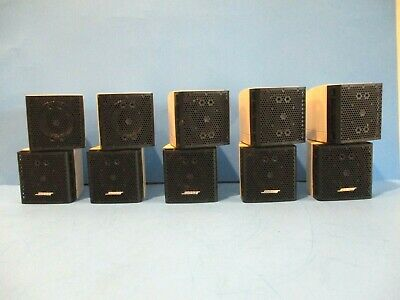 5 Bose Lifestyle Acoustimass Double Cube Surround Sound Speakers Home Theater