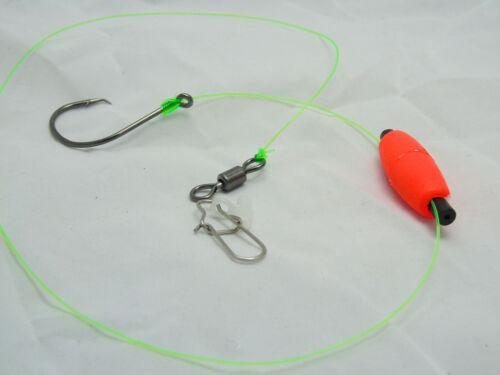 Six (6) Santee Cooper Catfish Rigs - 7/0 Circle Hooks - Sinker Slides - Big Game