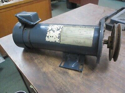 Electrol Co. Dc Motor M4621ab 1.0hp 1800rpm 180v 5.35a Encltefc Used