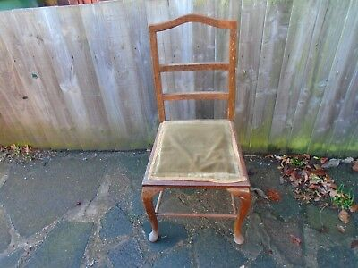 antique ladderback queen ann chair,hall bedroom refurb project.