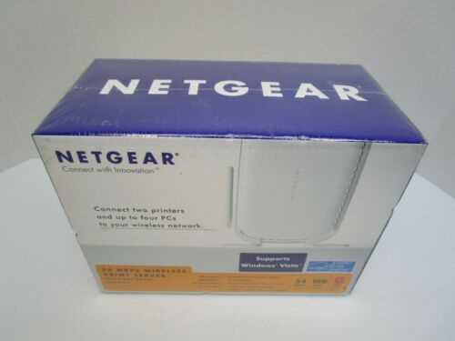 Netgear WGPS606 54Mbps Wireless Print Server with 4-Port Switch Factory Sealed!
