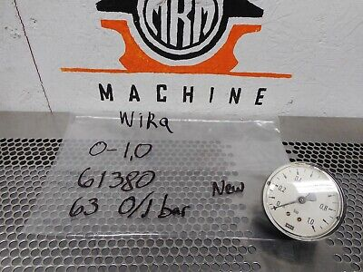 Wika 61380 0-10 Pressure Gauge 63 01 Bar New Old Stock