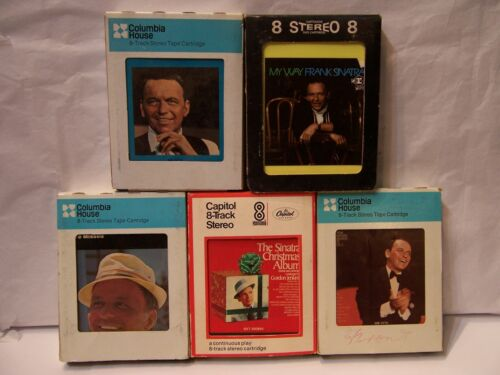 (Lot of 5)  8 Track Cartridge Tapes by FRANK SINATRA   TESTED!