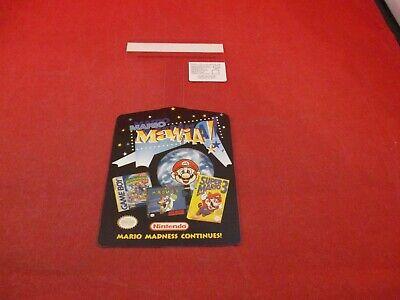 Mario Mania Super Mario World SMB 3 Nintendo NES SNES Shelf Dangler Display Sign (Super Mario World 3 Nes)