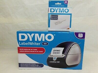 Dymo Label Writer 450 Desktop Label Printer Direct Thermal Printer W Extra