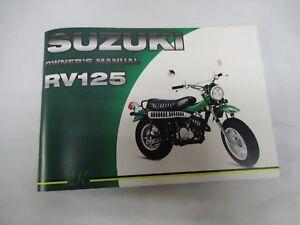 Suzuki RV125  owners manual   1973   RV90K