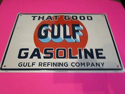 tin metal home garage repair shop man cave decor service station fuel gulf