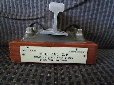 Mills Rail Clip Exors Of James Mills Limited Stockport, England Desk Top Display