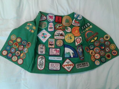 VTG 1990s Girl Scout Vest-Greater St. Louis-Full Front and Back - Badges/Patches