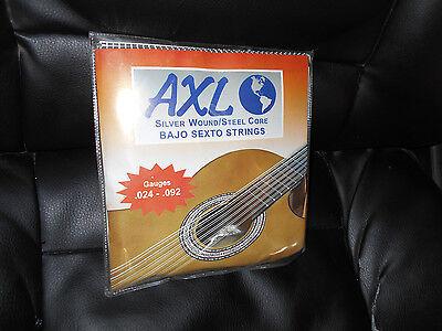 AXL PG-950 Bajo Sexto Strings/Cuerdas Silver Wound 12 String Set