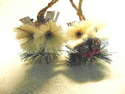 Rustic Owls Christmas Ornaments NWT #C