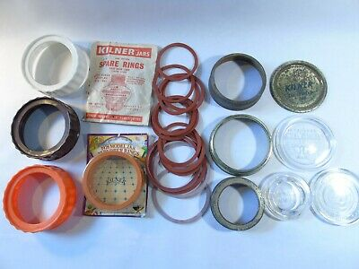 Vintage Kilner/Ravenhead Parts, Lids, Bands, Sealing Discs, Rubber Rings/Washers