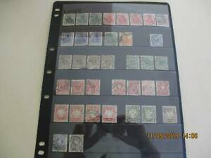 Old German stamps - some excellent postmarks - $3 includes hangar