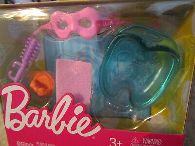 Barbie Doll FOOT BATH SPA w/ hair brush, loofa, towel, mask Dollhouse Accessory