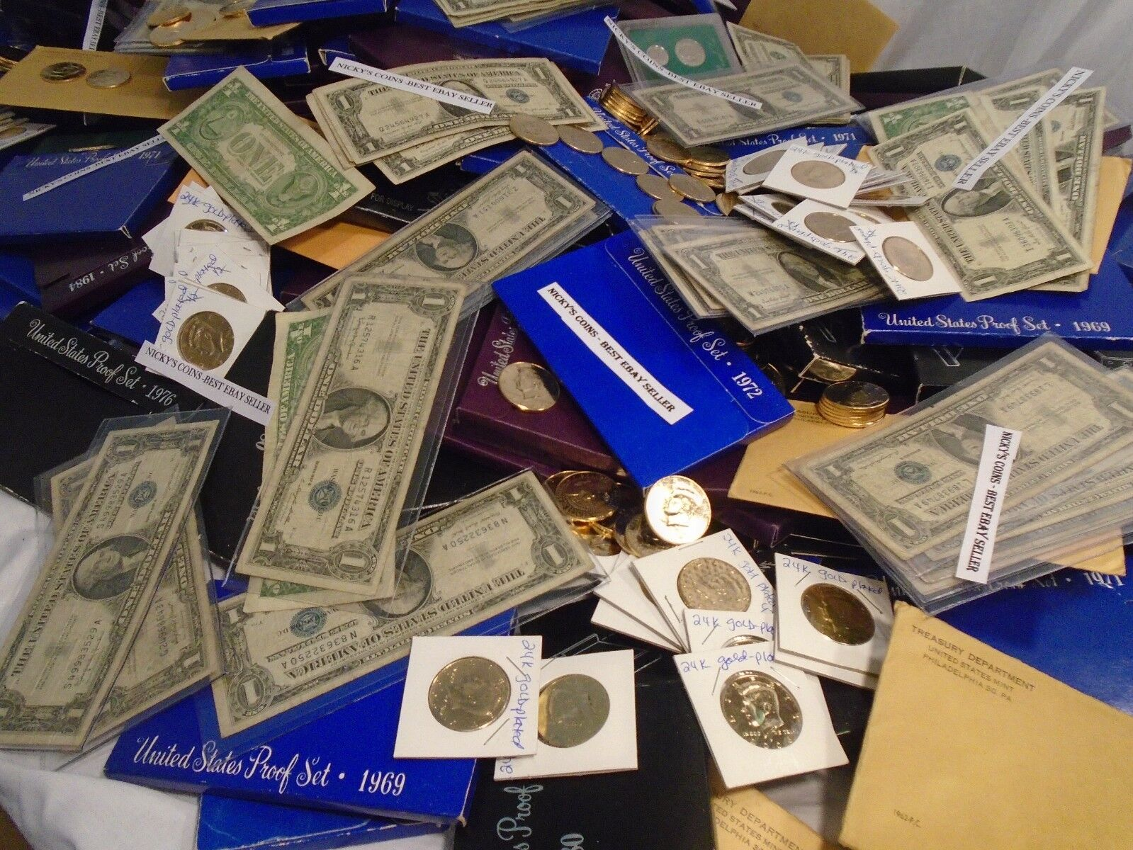 OLD ESTATE US COIN LOT SALE GOLD SILVER CURRENCY SALE HOARD PROOF COLLECTION
