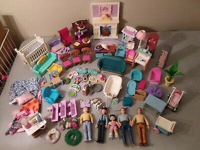 Fisher Price Loving Family dollhouse People Furniture Accessories HUGE 85+ LOT