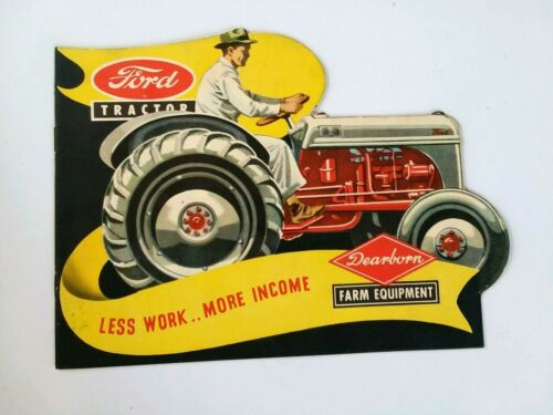 1948-era Ford Tractor Brochure - cut-out edges