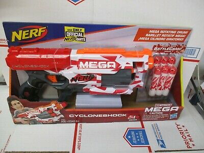 HASBRO NERF MEGA CYCLONESHOCK E5257 N-STRIKE W/ROTATING DRUM NEW FREE SHIP