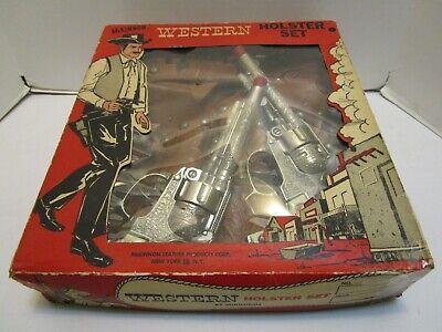MCKINNON WESTERN HOLSTER SET W/HUBLEY TEXAN CAP GUNS ***WOW***