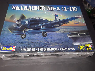 Used, Revell Skyraider AD-5 (A-1E) model kit 1/48 scale for sale  San Pedro