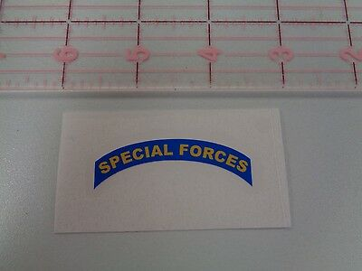 "SF Special Forces Tab Decal  2"" MACV SOG  Green Beret"