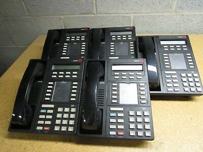 Lot Of 5 Lucent Avaya 8410d Business Phone Telephone With Handset