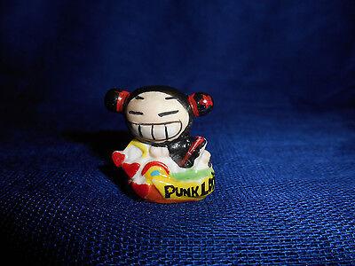 PUCCA Big Smile Rainbow PUNK LOVE Mini Figure French Porcelain FEVES no Guitar