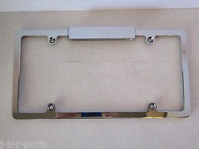 CHROMED ALUMINUM LICENSE PLATE FRAME WITH LICENSE LIGHT (Lighted License Plate Frame)