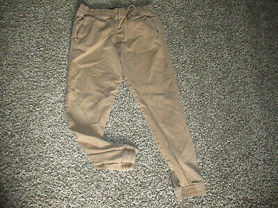 MENS TAN HOLLISTER JOGGER KHAKI PANTS LOT sz MEDIUM hco advanced stretch 32x28