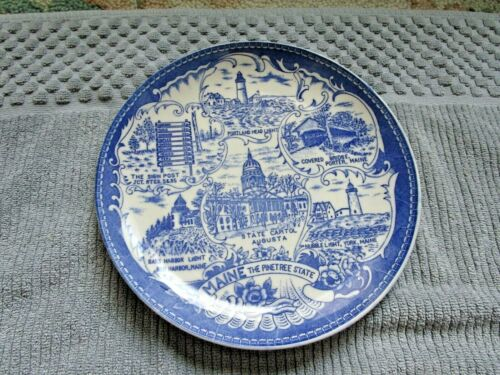 Old Maine the Pinetree State Souvenir Plate