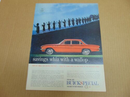 1961 BUICK SPECIAL Whiz with a Wallop vintage art print ad