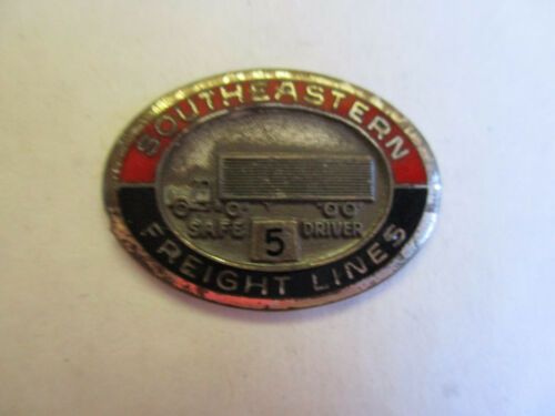 Southeastern Freight Lines 5yr Trucking Truck Driver Employee Safety Award Pin