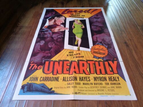THE UNEARTHLY 1957- ORIGINAL 1 SHEET - WOW!!!