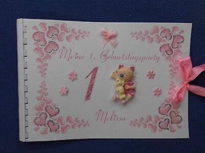 Gästebuch  Baby 1. Geburtstag erster Geburtstag  Erinnerungsalbum ()