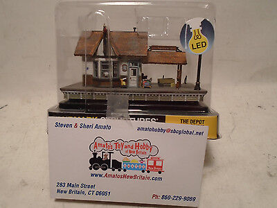 Woodland Scenics Landmark Structures  4942 N Scale The Depot New In Box