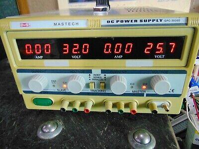 Mastech Dual Track Adjustable Dc Power Supply Gpc-3030d 0-30 Volt