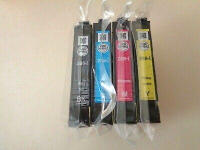 Epson 288 Ink Set of 4 CMYK NEW OEM 288i Sealed XP 330 340 430 434 440 446 T288