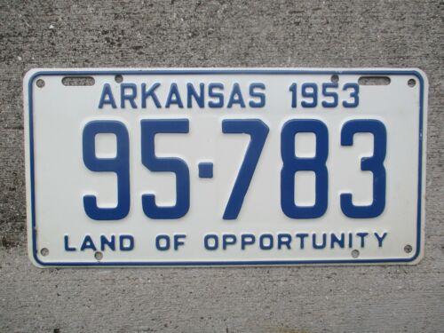 Arkansas 1953  license plate  #    95 - 783