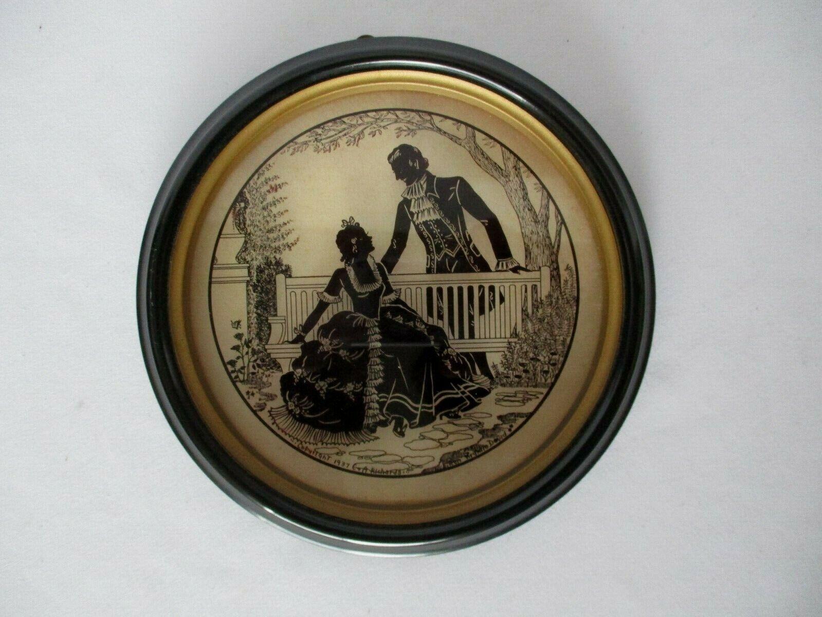 "Colonial Romance 6"" Round Picture C & A Richards Boston MA 1937"
