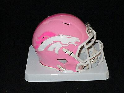 Pinks Denver (DENVER BRONCOS Officially Licensed NFL PINK SPEED MINI HELMET - New in)