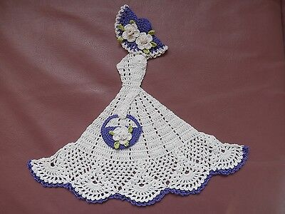 """New Spring or Mothers Day Gift 3D Crinoline 10.5"""" Tall Lady Hand Crochet Doily"""