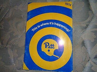 1974 Pitt Panthers Football Media Guide Pittsburgh Tony Dorsett Press Book Ad