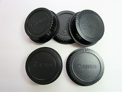 5 X NEW Canon Rear Lens Caps for most Canon Lenses / Fast U.S. Ship/ See 100% FB