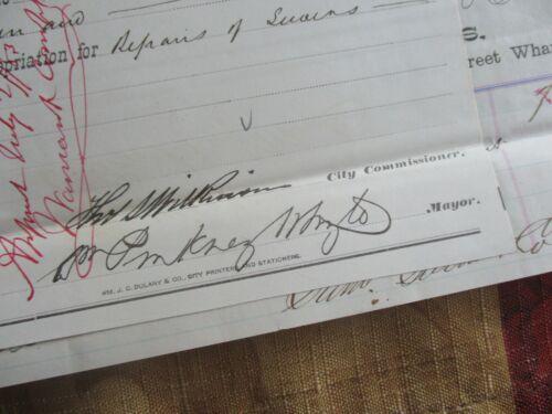 1883 William Pinkney Whyte (Maryland Senator) signed Baltimore document!